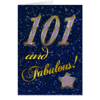 101st birthday for someone Fabulous Cards