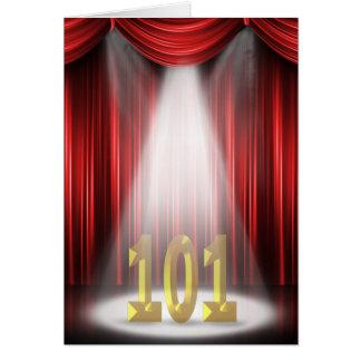 101st Birthday in the spotlight Card