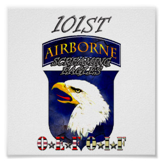 101st ID OEF OIF Screaming Eagles Poster