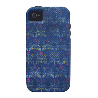 1024 FADED BLUEJEANS GRUNGE FLORAL PATTERN BLUE BA VIBE iPhone 4 COVERS