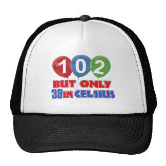 102nd birthday designs cap