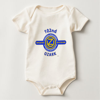 "102ND INFANTRY DIVISION ""OZARK DIVISION"" BABY BODYSUITS"