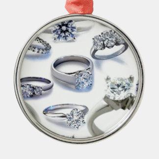103106-blings DIAMOND WEDDING RINGS JEWELERY BLING Christmas Ornament