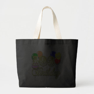103rd Birthday with Balloons Jumbo Tote Bag