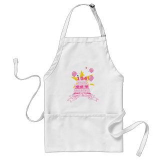 104 Year Old Birthday Cake Adult Apron