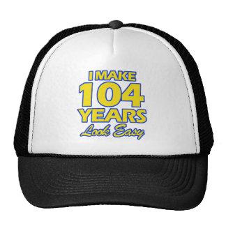 104 YEARS OLD BIRTHDAY DESIGNS CAP