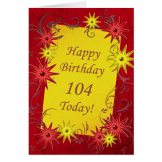 104th Birthday card