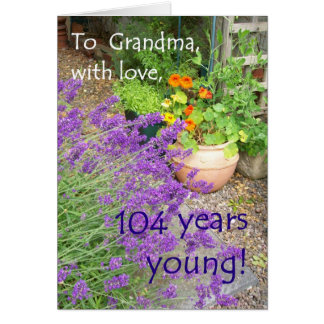 104th Birthday Card for Grandmother - Flowers