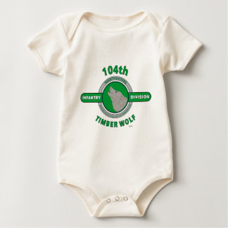 "104TH INFANTRY DIVISION ""TIMBER WOLF"" BABY BODYSUIT"