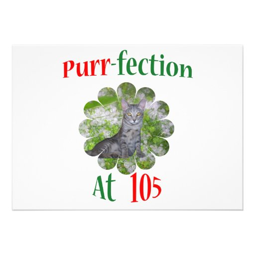 105  Purr-fection Personalized Invite