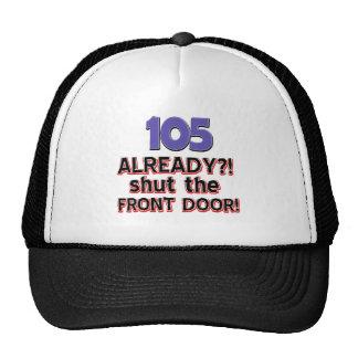 105th year old birthday designs cap