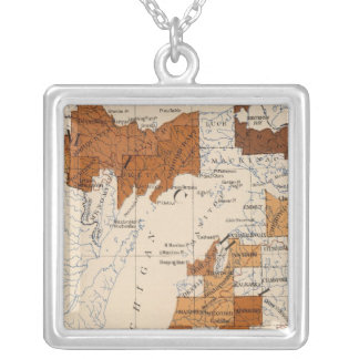 106 Diphtheria, croup Michigan Silver Plated Necklace