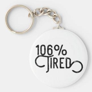 106% Tired Key Ring