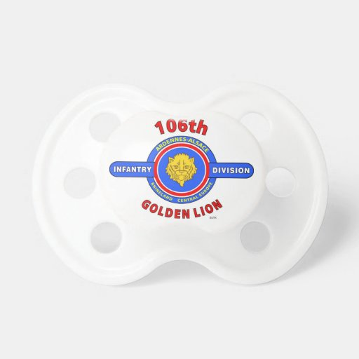 """106TH INFANTRY DIVISION """"GOLDEN LION"""" PACIFIERS"""