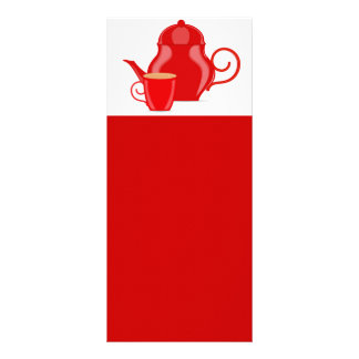 107 GLOSSY RED TEA KETTLE VECTOR GRAPHICS LOGO ICO FULL COLOUR RACK CARD