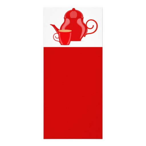 107 GLOSSY RED TEA KETTLE VECTOR GRAPHICS LOGO ICO RACK CARD DESIGN