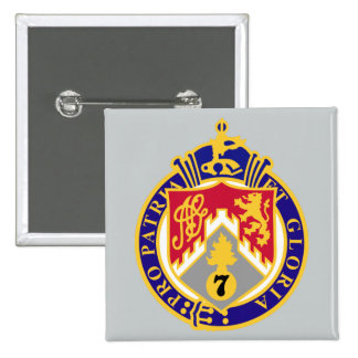 107th Infantry Regiment 15 Cm Square Badge