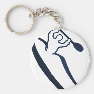 1081 Kayak Basic Round Button Key Ring