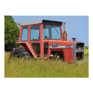 1085 Massey Ferguson Parked In A Field Poster