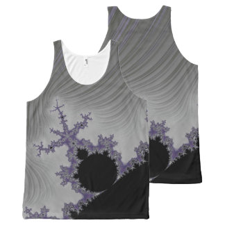 108-02 black mandy in a gray sky All-Over print tank top