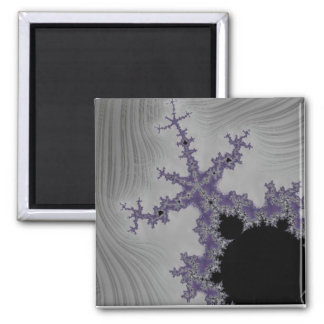 108-02 black mandy in a gray sky square magnet