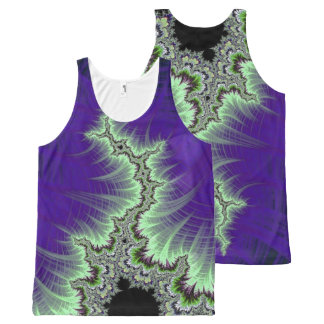 108-06 black mandy with white lightning All-Over print tank top