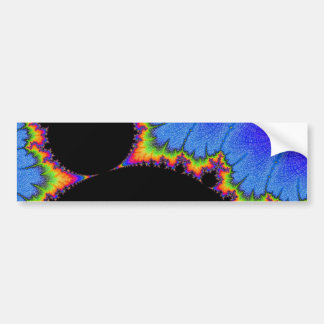 108-10 big black mandy with rainbow aura bumper sticker