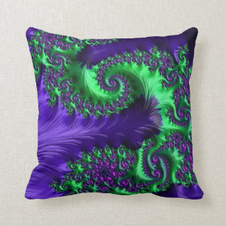 108-33 lime & purple dragon on purple pillow