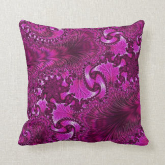 108-53 purple feather & fan cushion