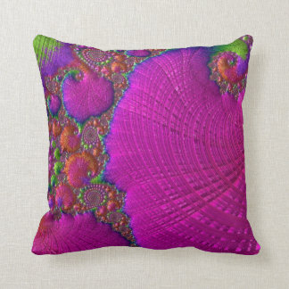 108-59 big fuchsia leaf cushion