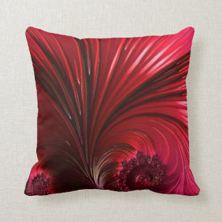 108-60 big shiny red leaf cushion