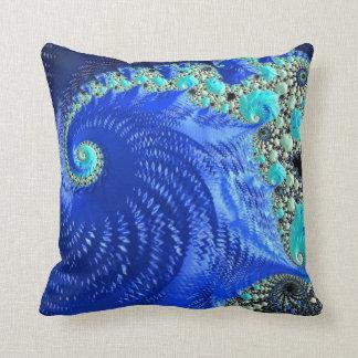 108-61 blue leaf on blue beach cushion