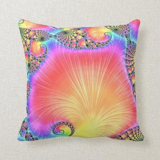 108-63 rainbow leaves cushion