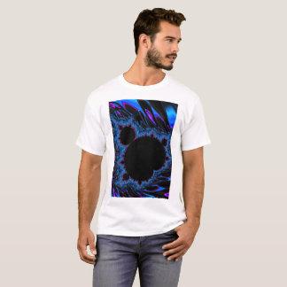108-82 black mandy on vivid blue t-shirt