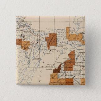 108 Influenza Michigan 15 Cm Square Badge