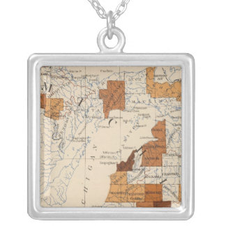 108 Influenza Michigan Silver Plated Necklace