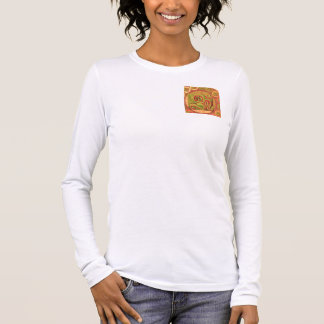 108 OM MANTRA Goodluck Peace Symbol Long Sleeve T-Shirt