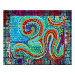 108 OM Mantra on Brick Wall Poster