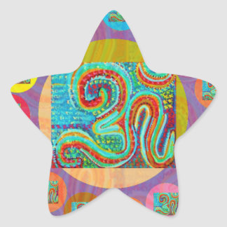 108 OM MANTRA STAR STICKER