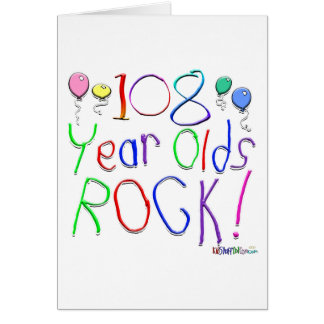 108 Year Olds Rock! Greeting Card
