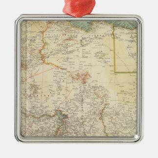 10911 North Africa Silver-Colored Square Decoration