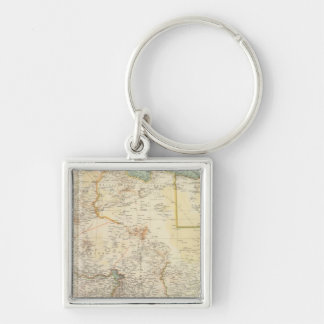 10911 North Africa Silver-Colored Square Key Ring