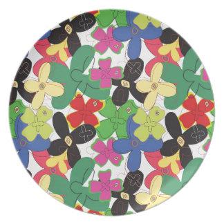 109 RETRO SKETCH COLORFUL FLOWERS FUN PATTERNS TEM PLATE