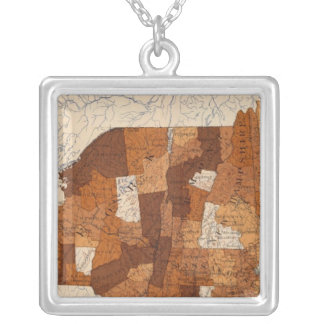 109 Typhoid fever NY, NJ, New England Silver Plated Necklace
