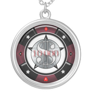 10 000 00 Gambling Casino Poker Chip Necklace