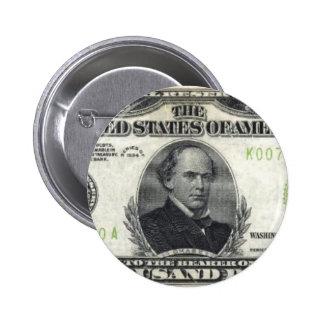 $10,000 Bill 6 Cm Round Badge