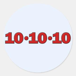 10-10-10: October 10, 2010 Round Sticker