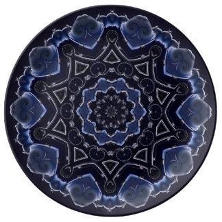 """10.75"""" decorative porcelain plate.art plate"""