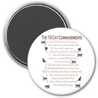 10 CAT Commandments 7.5 Cm Round Magnet