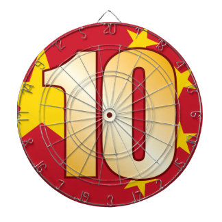 10 CHINA Gold Dartboard